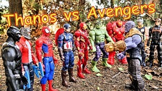 Download Thanos vs Avengers + Spiderman - Hulk, Thor, Black Panther, Iron Man Full Fight! Video