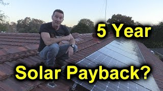 Download EEVblog #1086 - 5 Year Solar Power Results - Payback? Video