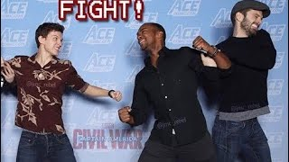 Download Sebastian Stan & Anthony Mackie JOKINGLY Dragging Tom Holland for 10 minutes Straight ! Video