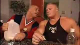 Download WWE Brock Lesnar & Kurt Angle - Funny Moment Video