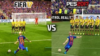 Download FIFA 17 vs PES 17 - FREE KICKS (featuring Messi, Ronaldo, Ibrahimovic, Calhanoglu) Video