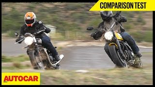 Download Triumph Bonneville Street Twin VS Ducati Scrambler Icon | Comparison Test | Autocar India Video