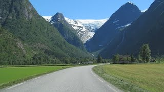 Download Norway: the road from Olden to Jostedal Glacier Video