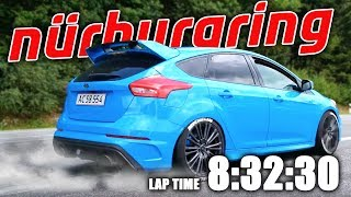 Download LAPPING 8.32 FIRST TIME AT THE NÜRBURGRING IN MY FORD FOCUS RS Video