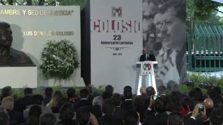 Download Palabras de José Narro Robles en el 23 Aniversario Luctuoso de Luis Donaldo Colosio Video