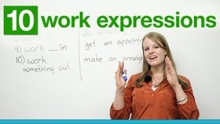 Download 10 WORK Expressions in English Video
