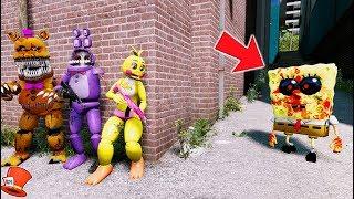 Download CAN THE ANIMATRONICS HIDE FROM SPONGEBOB EXE? (GTA 5 Mods For Kids FNAF RedHatter) Video