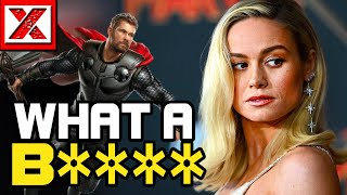 Download Brie Larson Goes CRAZY on Chris Hemsworth, Captain Marvel Gone To This B's Head Video