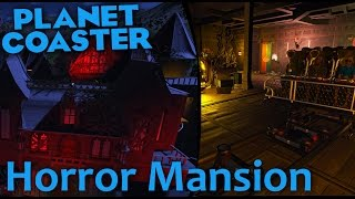 Download Horror Mansion Dark Ride Coaster - Fully Themed   On- & Offride   Planet Coaster [HD, 60 Fps] Video