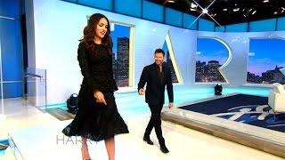 Download Adria Arjona Shows Harry How to Walk in High Heels Video