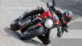 Download 2016 Ducati Monster 1200 R First Ride Review - MotoUSA Video