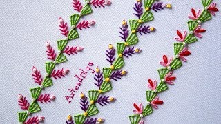 Download Hand Embroidery: Decorative Stitches #5 | Bordado a mano: Puntadas Decorativas #5 | Artesd'Olga Video
