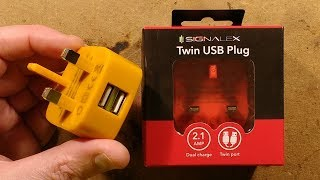 Download Testing Poundland's 2.1A dual port USB power supply. (with 2kV) Video