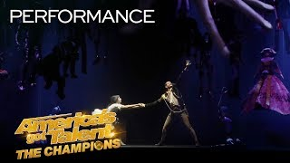 Download Freckled Sky Creates A STUNNING Story With Projections & Dance - America's Got Talent: The Champions Video