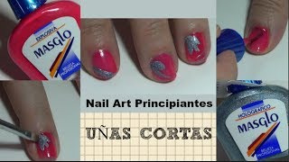 Download UÑAS CORTAS DECORADAS 💅 Tutorial Nail Art basico y fácil Video
