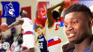 Download ZION Williamson POSTER AND WINDMILL!! 8 DUNKS IN A GAME! Coach K's REACTION to HIS DUKE Commitment! Video