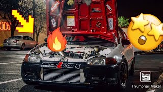 Download Fire breathing Turbo b series civic Video