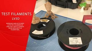 Download Test Filaments LV3D ( PLA rouge métalisé et Bois ) Video