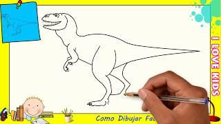 Download Como dibujar un dinosaurio FACIL paso a paso para niños y principiantes 2 Video