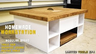 Download Homemade Table Saw, Jigsaw, Router Workstation Modular | How to Make Video