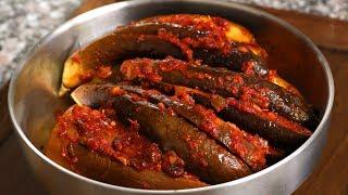 Download North Korean style spicy stuffed steamed eggplant (Gochujang gaji-jjim: 고추장 가지찜) Video