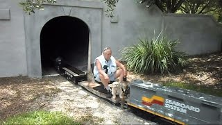 Download Seaboard System Dog On Train Runs Man Out Of Tunnel Video