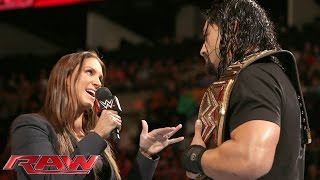 Download Roman Reigns doesn't back down to the McMahon family: Raw, January 4, 2016 Video