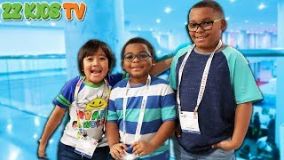 Download Wait is That Ryan ToysReview? (ZZ Kids vs DavidsTV! Who Will Win?) 2019 Toy Fair NYC Video