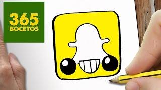 Download COMO DIBUJAR LOGO SNAPCHAT KAWAII PASO A PASO - Dibujos kawaii faciles - How to draw a Logo Snapchat Video
