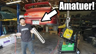 Download Building MY FIRST Custom Exhaust For Miss Jackson! (WRX Swapped Subaru GC8) *Amatuer Fab Alert* Video
