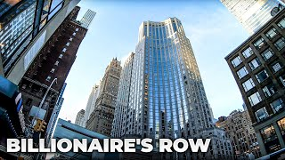 Download ⁴ᴷ⁶⁰ Walking NYC Billionaire's Row 57th Street from 1st Avenue to 9th Avenue (Supertall Skyscrapers) Video