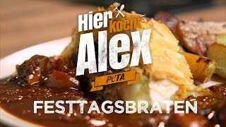 Download Hier kocht Alex - veganer Festtagsbraten / PETA Video