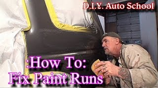 Download ″How To Remove Paint Runs″-Automotive Paint And Body Tech Tips and Tricks Video
