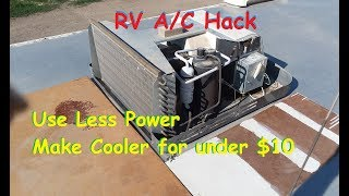 Download Improve RV Air Conditioner cooling & reduce power use for about $10 (See Below Video) Video