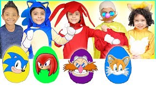 Download NEW Sonic Play Doh Surprise Eggs with Toys for Kids Tails Shadow Dr Robotnik Amy Rose Super Sonic Video