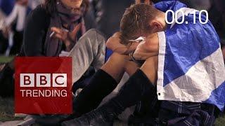 Download Scottish referendum: 60 sec after result was announced Video