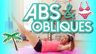 Download 8 min Abs & Obliques Workout! Swimsuit Slimdown Series Video