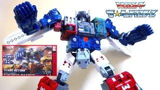 Download 【 ザ☆ヘッドマスターズ】全高約600mm!! フォートレスマキシマス ヲタファのトランスフォーマーレビュー / Transformers Titans Return FORTRESS MAXIMUS Video