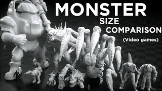 Download Monsters Size Comparison (Video games) Video