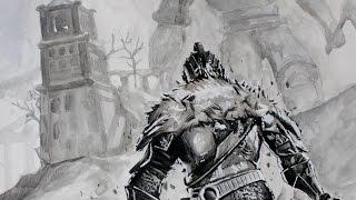 Download Sketching/ a Medieval Knight - Dark Souls - Comics, Cartoons, Kids Video