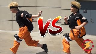 Download Does The Naruto Run Make You Faster?? (Tested With Cosplayers, Surprising Result!!!) Video