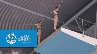 Download Aquatics Diving Synchronised Platform Finals (Women) Day 2 | 28th SEA Games Singapore 2015 Video