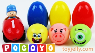 Download Learn Colors Pocoyo Car Kinder Surprise Eggs Play Doh Glitter Clay Baby Doll Bathtime Nursery Rhymes Video
