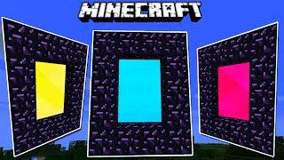 Download Minecraft: Como hacer portales de COLORES Super Locos! - Rabahrex Video
