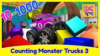 Download Counting Monster Trucks 3 | Learn to Count From 10 to 1000 for Kids Video