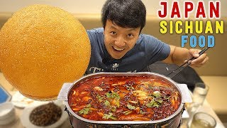 Download SPICY Sichuan Chinese Food & GIANT SESAME BALL in Tokyo Japan Video