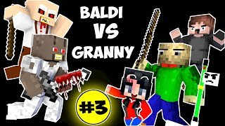 Download Monster School : BALDI'S BASICS VS GRANNY CHALLENGE PART 3 - Minecraft Animation Kids Mobs Video