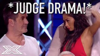 Download JUDGE STORMS OFF STAGE After Argument With Simon Cowell! Video