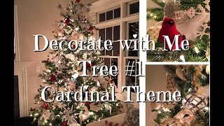 Download Cardinal Christmas Tree How-To Dollar Tree ornaments Video