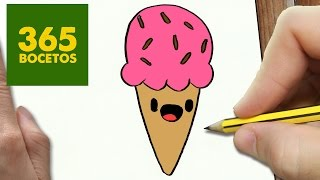 Download COMO DIBUJAR UN HELADO KAWAII PASO A PASO - Dibujos kawaii faciles - How to draw a ice cream cone Video